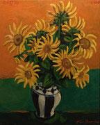 NICHT MEHR ERHÄLTLICH, Sonnenblumen, Öl auf Leinwand,