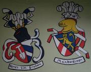 Ansicht der Wappen Von Graben und Meinhardiner