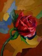 """NICHT MEHR ERHÄLTLICH   """"1. Rose"""", 40x30 cm, 2005"""