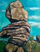 Der Wächter (Wollsackgesteinformation), 100x80 cm, 2009