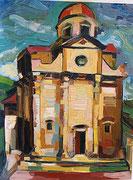 Italienische Kirche, öl auf Hartfaserplatte, 80x60 cm, 2005