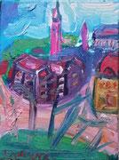NICHT MEHR ERHÄLTLICH   Stadt Horn, Öl auf Leinwand, 40x30 cm, 2002