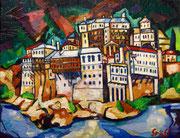 """""""Berg Athos, Kloster Dionysiou"""", 70x90 cm, 2014"""