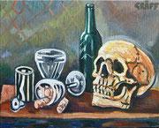 """Memento mori"", Öl auf Leinwand, 40x50 cm, 2017;  F. N. 20 - (2017: 20)"