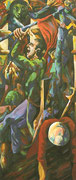 """Figurenkomposition"", 190x80 cm, 2004"