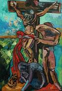 Waldviertler Kreuzigungsgruppe (nach akademischen Bildhauer Alfred Kurz), 130x90 cm, 2009
