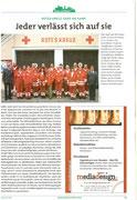 Bericht im Garser Kulurbrief über die Rot Kreuz Ortstelle Gars (Frühjahr/Sommer 2010), Matthias Laurenz Gräff hinten vierter von rechts Großteil der Garser Mannschaft. Copyright by Marktgemeinde Gars am Kamp