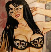 "Pin up - ""Orea"", Öl auf Leinwand, 50x50 cm, 2015"