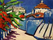 """NICHT MEHR ERHÄLTLICH, """"Patmos, Dodekanes"""", Öl auf Leinwand, 30x40 cm, 2015"""