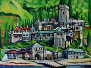 """""""Kloster Dochiariou"""", Öl auf Leinwand, 60x80 cm, 2015"""