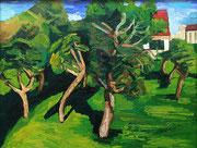 """Blick in den Nachbars Gartem"", 70x90 cm, 2005"