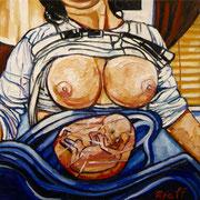 """Gemäldezyklus """"Das Ansinnen"""" - """"Die Berge Griechenlands, die Geburt"""", Öl auf Leinwand, 60x60 cm, 2014"""