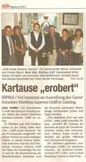 Matthias Laurenz Gräff. Presseartikel Kartause Gaming in der NÖN, Bezirk Horn