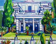 """""""Das Achilleion Kaiserin Elisabeths von Österreich auf Korfu"""", 40x50 cm, 2014"""