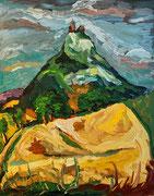 Blick auf die Staatzer Klippe, 100x80 cm, 2006