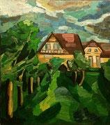 """""""In der Nachbarschaft"""", 90x80 cm, 2005"""
