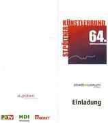 Einladung zur 64. Jahresausstellung des St.Pöltner Künstlerbundes