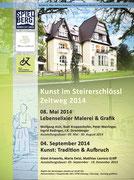 Flyer Ausstellung Matthias Laurenz Gräff im Steierschlössl Zeltweg