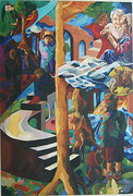 Mein Lebensbild,220x150 cm, 2005