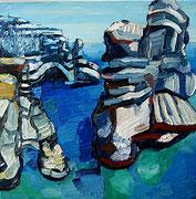 NICHT MEHR ERHÄLTLICH, Meeresklippen bei Milos (Kleftiko), 50x50 cm, 2013