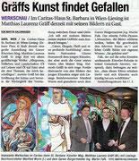 Presseartikel in der NÖN, Bezirk Horn (Woche 9), Copyright by Martin Kalchhauser. Matthias Laurenz Gräff, Günter Stummvoll, Caritas Haus St. Barbara