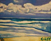 An der griechischen Küste, Öl auf Leinwand, 24x30cm, 2015