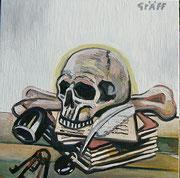 """""""Vanitas (Der Tod eines Engels)"""", Öl auf Leinwand, 50x50 cm, 2017;  F. N. 29 - (2017: 29)"""