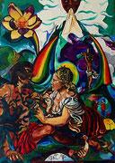 NICHT MEHR ERHÄLTLICH, Irdische und Himmlische Caritas, 150x110 cm, 2008