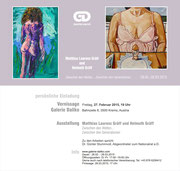 Einladung Galerie Daliko. Matthias Laurenz Gräff und Helmuth Gräff