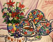 """""""Opulent Floral"""", Öl auf Leinwand, 40x50 cm, 2015"""