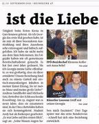 Titelgeschichte in den Bezirksblättern Horn (Woche 37)