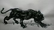 NICHT MEHR ERHÄLTLICH, Der Jaguar, Tuschezeichnung