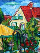 NICHT MEHR ERHÄLTLICH, Sommerimpression im Garten, 80x60 cm, 2005/11