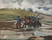 """""""Abseits von Waterloo"""", Öl auf Leinwand, 30x40 cm, 2019;  F. N. 97 - (2019: 23)"""
