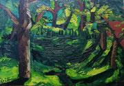 NICHT MEHR ERHÄLTLICH, Sommerlicht, Öl auf Hartfaserplatte, 45x65 cm, 2005