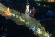 Nächtlicher Ausblick von der Stadtpfarrkirche