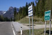 Nächste Passhöhe am Seebergsattel auf 1254 Meter