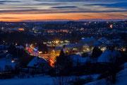 Die City zur Blauen Stunde