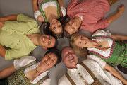 Familienfotos können Spaß machen