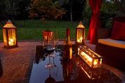 Kerzen und Teelichter stehen immer zur Verfügung