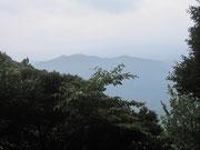 高祖山山頂より叶嶽方面を望む