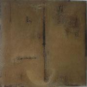 Mischtechnik auf geöltem Papier, 100 x 100 cm