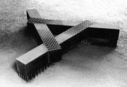 """""""Face - level  (K-11)""""        H.60x200x200cm/cor-ten steel/1985"""