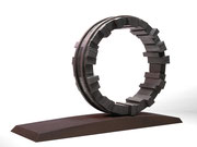 """Circle - yakibame  (C-43)""         H.41x59x17cm/steel/2018 (作家蔵)"