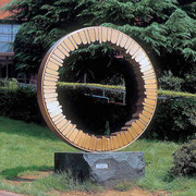 """Circle - harmony  (C-03)""                      H.300x230(φ230)x90cm/bronze/1993 Fussa Central Park, Tokyo"