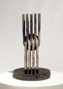 """Space - 9 plates  (K-40)""          H.24x10x10 cm/bronze/1989"