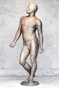 「若い男・2 」               H.180x75x65cm/FRP/1985