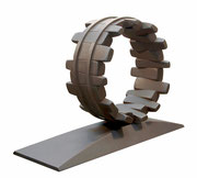 """Circle - door to the future  (C-40)"" H.48x67x20cm/steel/2018"