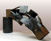 """Metamorphosis - three dimensions  (M-27)""           H.70x70x70cm/mild steel/2010"