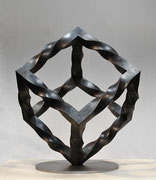 """Metamorphosis - inside out  (M-42)""     H.50x40x40cm/mild steel/2013"